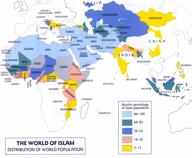 Map - Islamic World 2