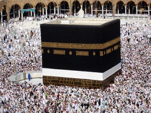 The Ka'ba in Mecca, during the Hajj.