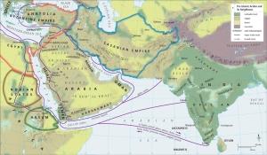 Pre-Islamic Arabia, including trade routes