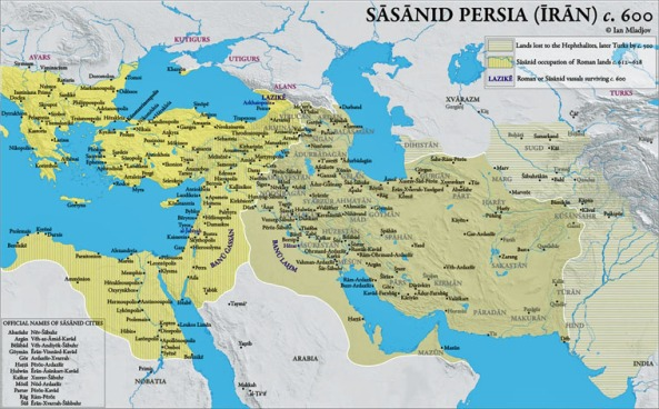 Sassanid-Persian-Empire-of-Khosrow-Parviz-600-Map