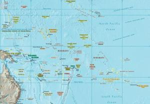 Some of the small island nations at risk from rising sea levels (via)