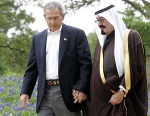 If only we could go back to a simpler time, when a Saudi king and an American president could hold hands as they strolled through the garden together...