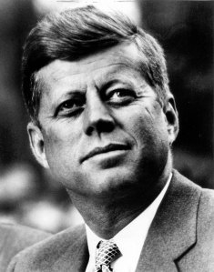 """Noted Arch-Conservative John F. Kennedy. Right here he's thinking, """"God, I just wish there were a food stamp program so that I could cut its benefits."""""""
