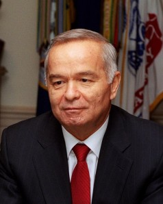 Islam Karimov, either watching somebody get boiled or feeling wistful for the last time he watched someone get boiled.