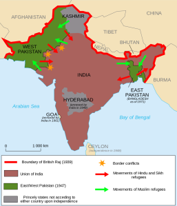 Partition of India, including migrations after the partition.