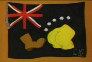 NOTE TO NEXT AMBASSADOR TO AUSTRALIA: This is NOT the Australian flag!
