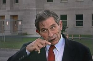 Maybe they were going to greet us as liberators, but they got freaked out by Wolfowitz's grooming habits