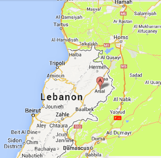 lebanon-arsal-map