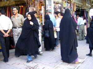 Women in chadors (Wikipedia)