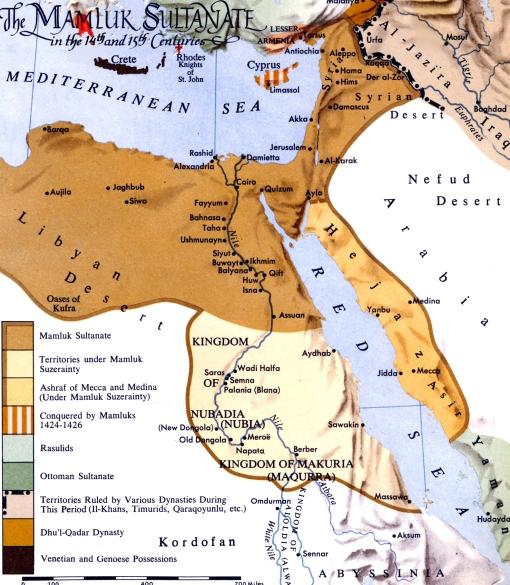 Map - Mamluk Egypt & Syria