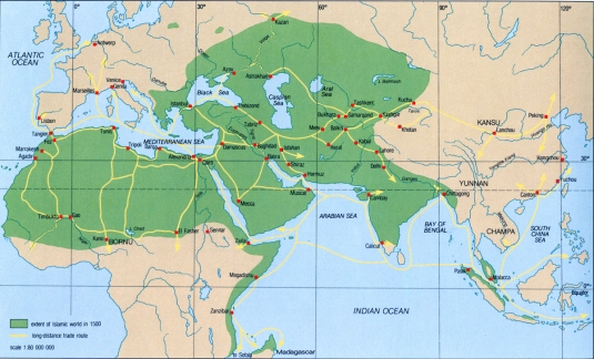 Map - Trade Routes 1500
