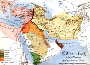 Map - Middle East 6th Century