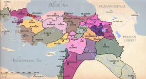 Administrative divisions of the Ottoman Empire c. 1900 (via)