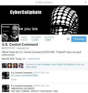 centcom hacked twitter