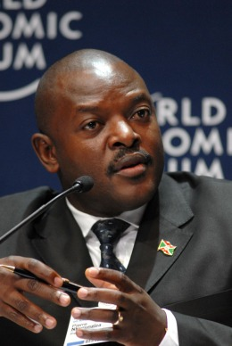 Pierre Nkurunziza, possibly explaining to the World Economic Forum how 1 plus 1 can sometimes equal 1. (via)