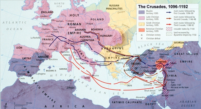 Map - Crusades, Early