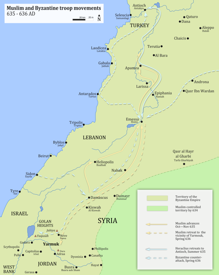 Today in Middle Eastern history: the Battle of Yarmouk (636)