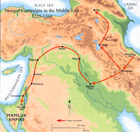 Map - Mongol Campaigns in the Middle East