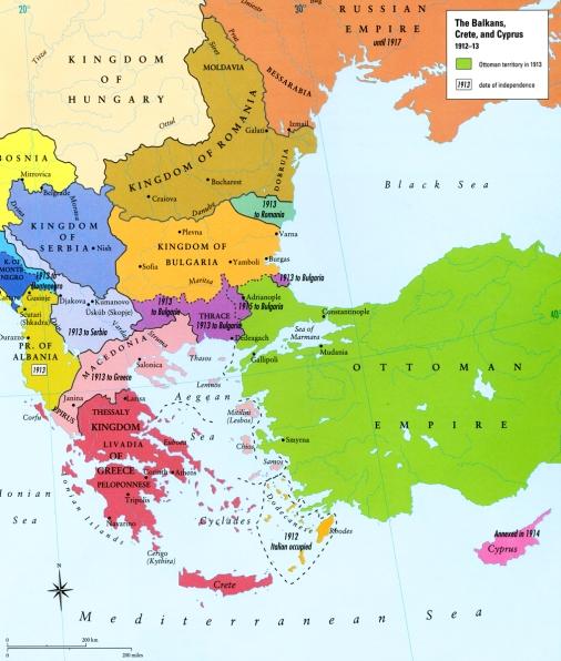 Map - Balkans 1912-13