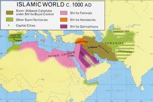 The state of the Islamic world around 1000 CE, including the Fatimid Caliphate