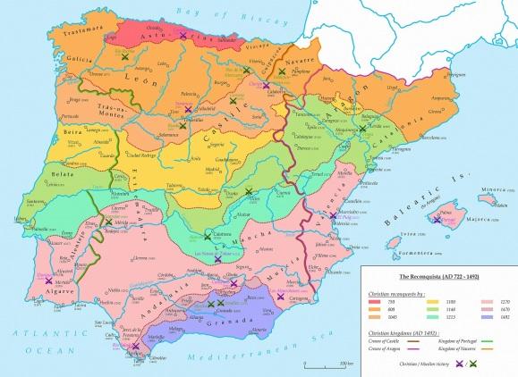 reconquista map
