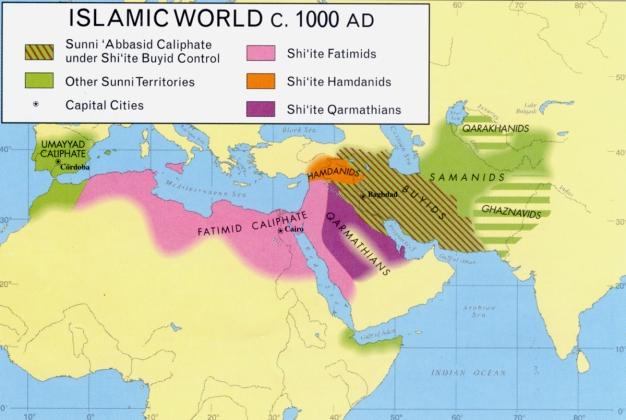 Map - Islamic World, ca. 1000 a