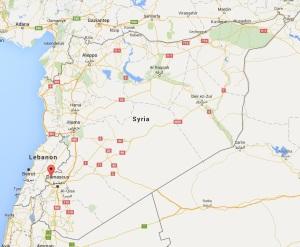 Madaya, Syria, courtesy Google Maps
