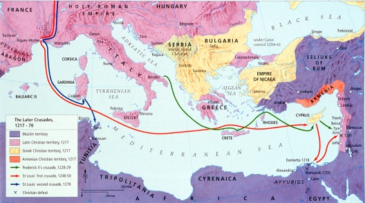 Map - Crusades, Later