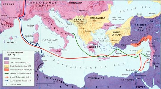 Map - Crusades, Later