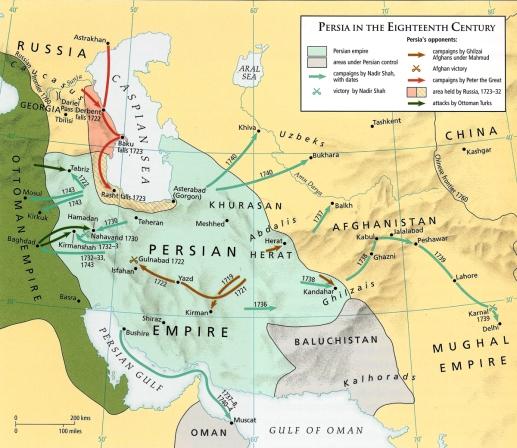 Map - Iran n 18th C