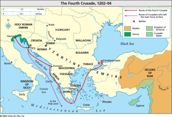Today in European history: the Fourth Crusade sacks ...