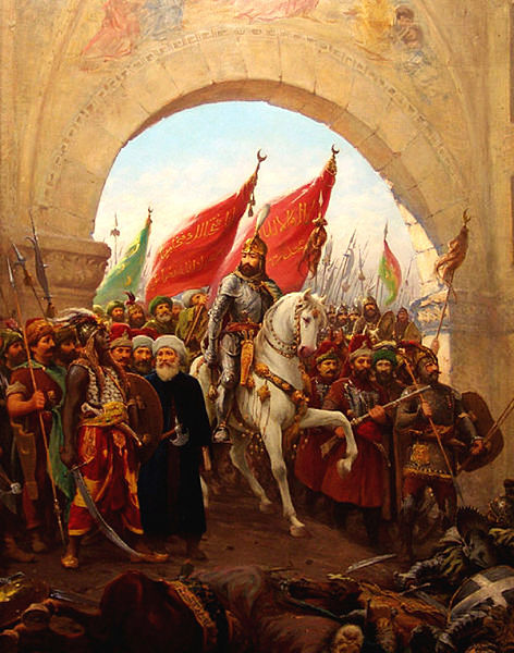 Today in Middle Eastern/European history: the Fall of Constantinople (1453)