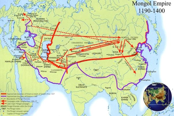 Map - Mongol Empire 1190-1400