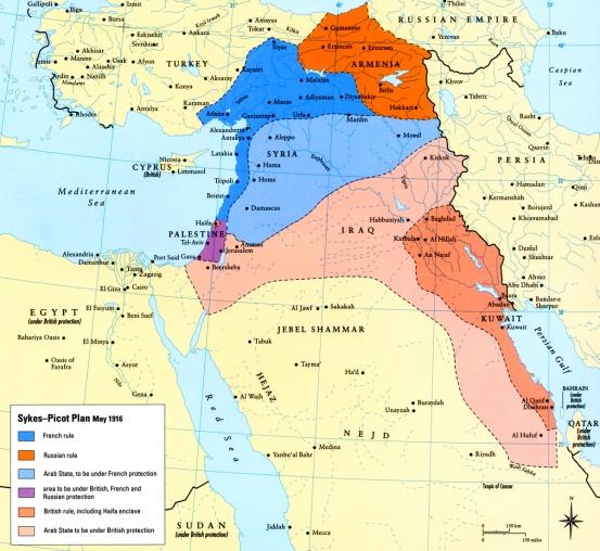 Map - Sykes-Picot 2