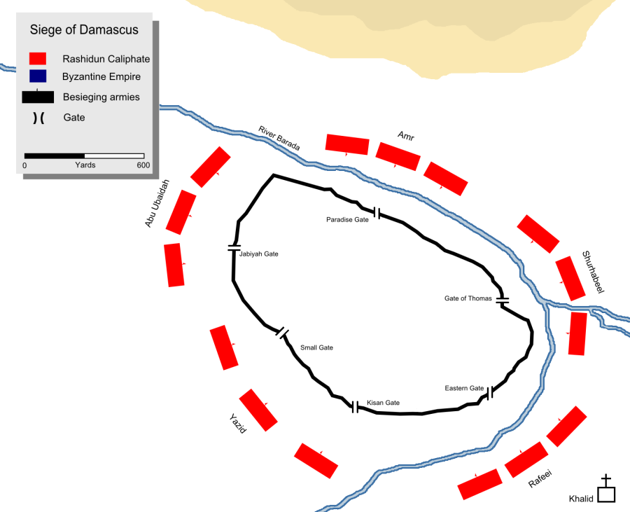 Today in Middle Eastern history: the Siege of Damascus ends (634)