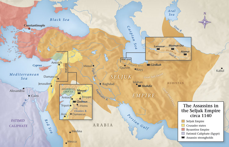 Today in Middle Eastern history: the Assassin imam surrenders to the Mongols(1256)