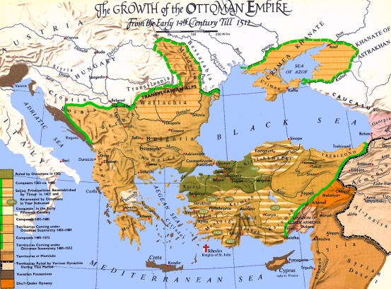 Map - Ottomans to 1512 2